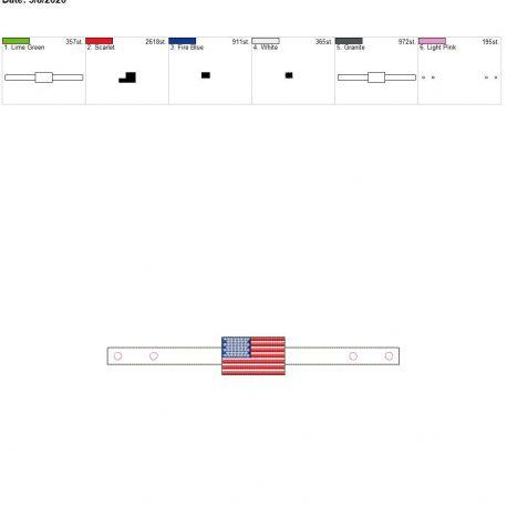 Mask Extender US Flag 6×10 single