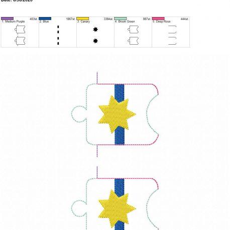 7 point blue line badge Sanitizer-Holder-Eyelet 5×7 grouped