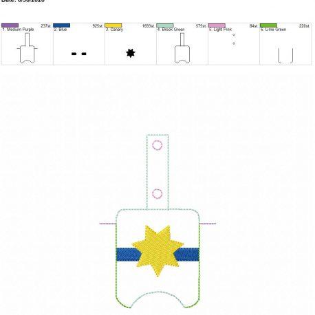 7 point blue line badge Sanitizer-Holder-Snap-Tab-5-x-7