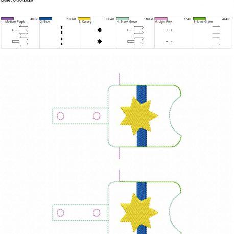 7 point blue line badge Sanitizer-Holder-Snap-Tab-5-x-7 grouped