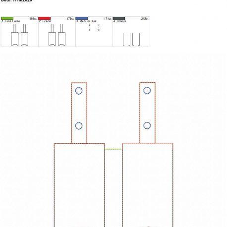 Essential oil Sanitizer holder 5×7 grouped