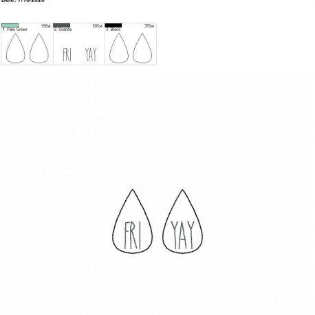 Fri yay earrings 1.75 inch 4×4 single