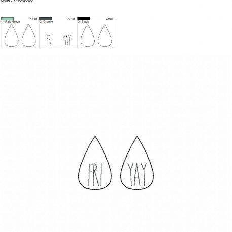 Fri yay earrings 2.00 inch 4×4 single