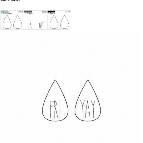 Fri yay earrings 2.5 inch 4×4 single