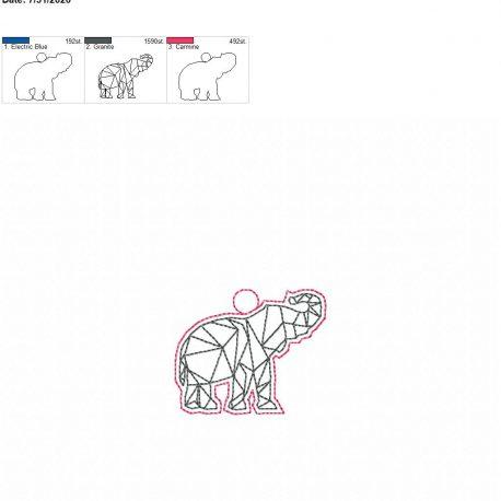 Geo Elephant Eyelet 4×4