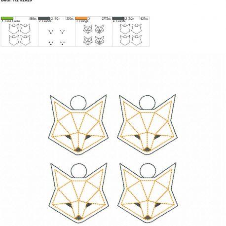 Geo fox eyelet 5×7 grouped