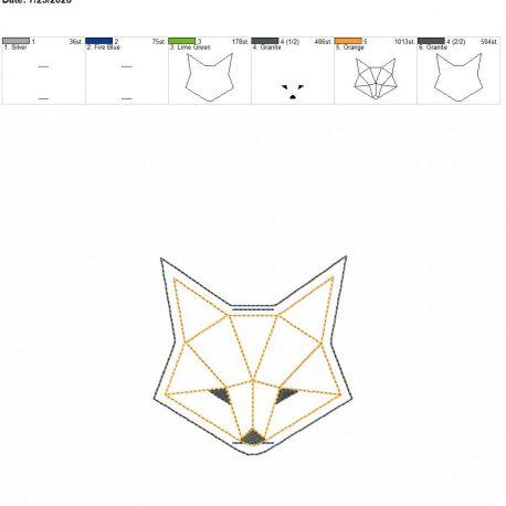 Geometric Fox book band 4×4