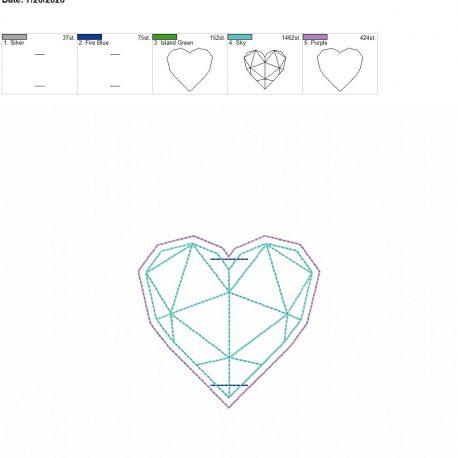 Geometric Heart book band 4×4