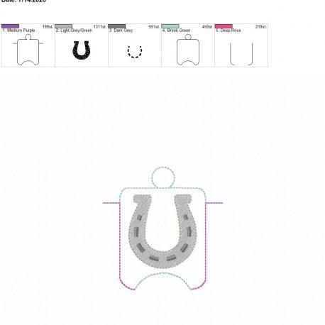 Horse shoe sanitizer holder eyelet 4×4