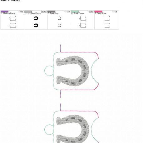 Horse shoe sanitizer holder eyelet 5×7 grouped