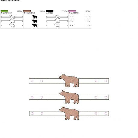 Mask Extender Bear 6×10 grouped