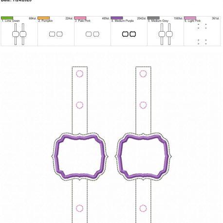 Mask Extender applique frame 5×7 grouped