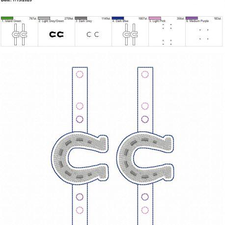 Mask Extender horseshoe extra placement 5×7 grouped
