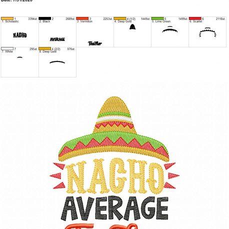 Nacho Average Teacher 5×7