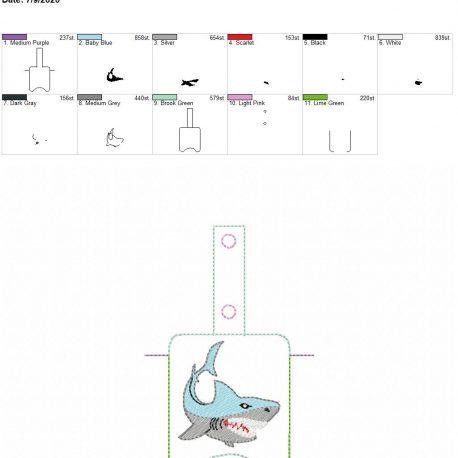 Shark Sanitizer holder snap tab 5×7