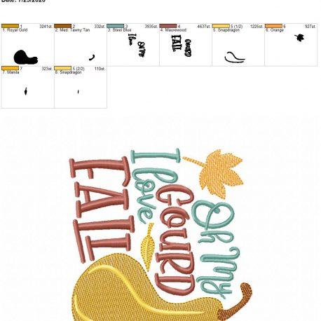 oh my gourd i love fall 5×7