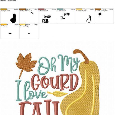 oh my gourd i love fall 6×10