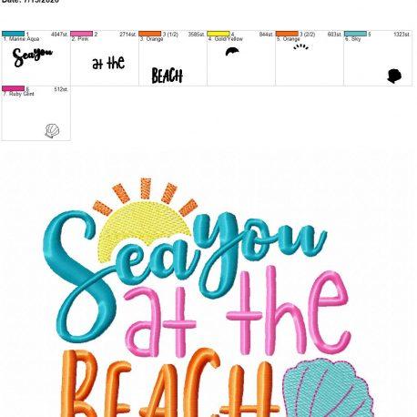 sea you at the beach 6×10
