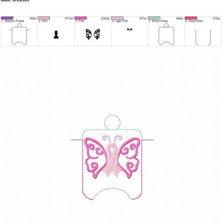 Awareness butterfly sanitizer holder eyelet 4×4