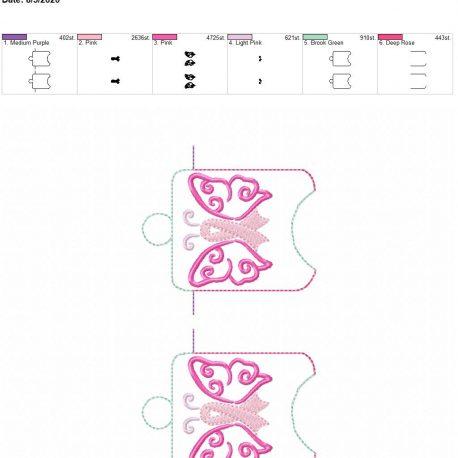Awareness butterfly sanitizer holder eyelet 5×7 grouped