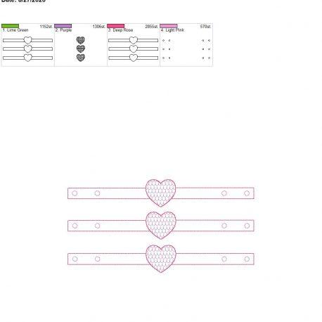 Mask Extender Mermaid heart 6×10 grouped