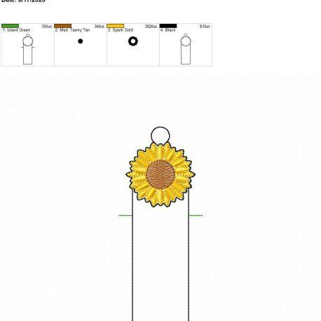 Sunflower chapstick holder eyelet 5×7