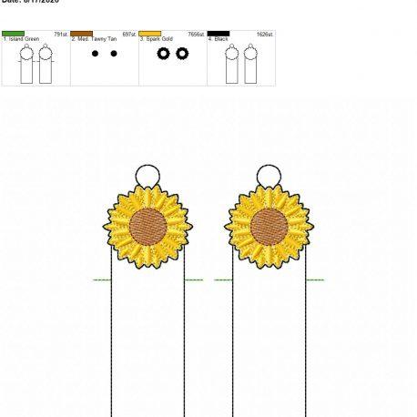 Sunflower chapstick holder eyelet 5×7 grouped