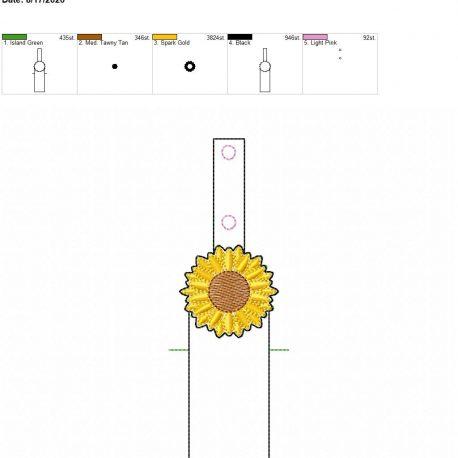 Sunflower chapstick holder snaptab 5×7