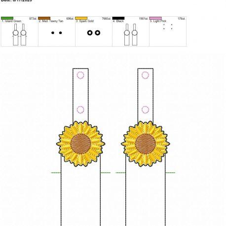 Sunflower chapstick holder snaptab 5×7 grouped