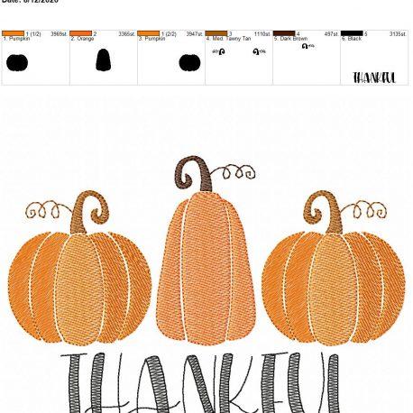 Thankful sketch 6×10