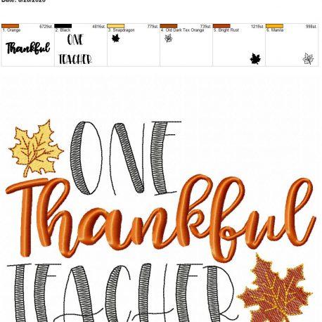 one thankful teacher 6×10