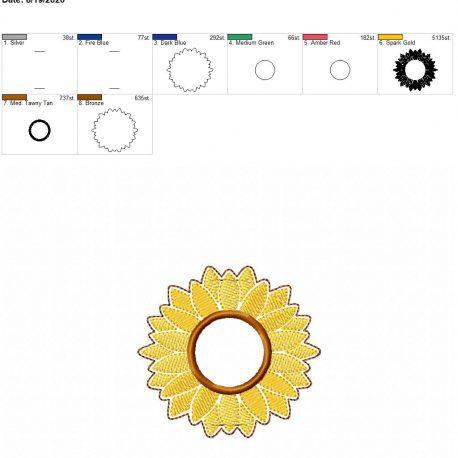 sunflower applique book band 4×4