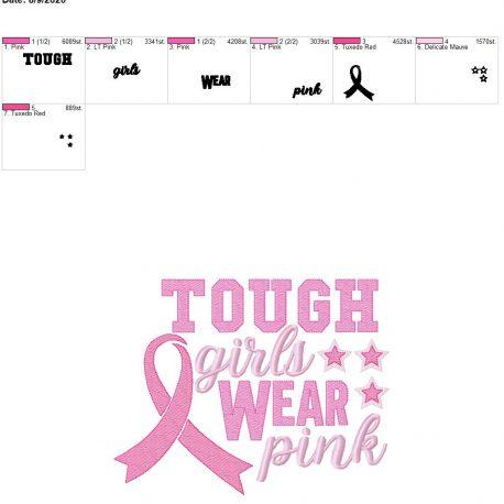 tough girls wear pink 8×12