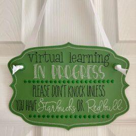 ITH – Virtual Learning Starbucks Redbull Door Hanger – 3 sizes – Digital Embroidery Design
