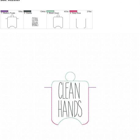 Clean Hands sanitizer holder eyelet 4×4