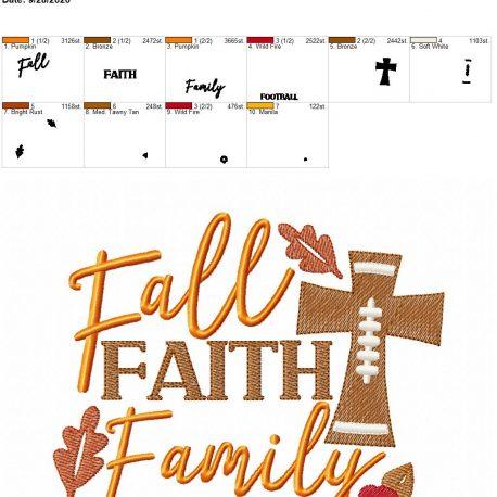 Fall Faith Family Football 6×10