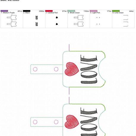 Love Sanitizer holder snap tab 5×7 grouped