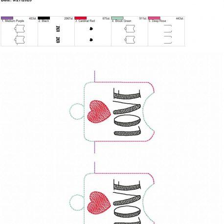 Love sanitizer holder eyelet 5×7 grouped