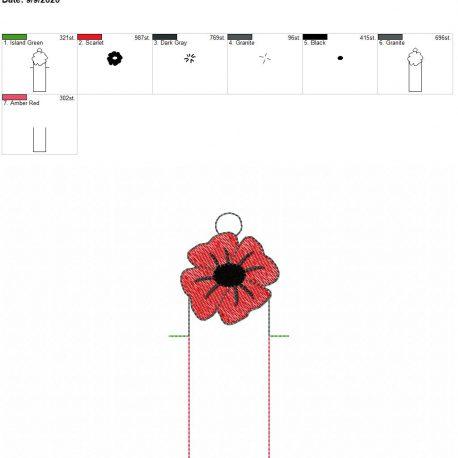 Poppy chapstick holder eyelet 5×7