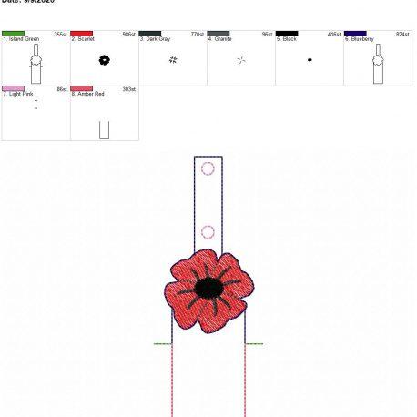 Poppy chapstick holder snaptab 5×7