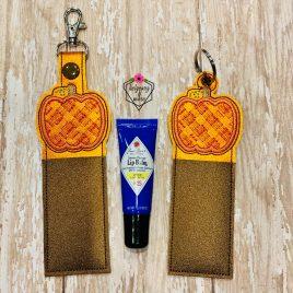 ITH Plaid Pumpkin Chapstick Holders 5×7 – DIGITAL Embroidery DESIGN